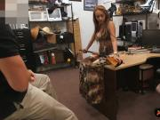 Crazy slut pounded by pervert pawn dude at the pawnshop