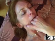 Slutty redhead granny Ivet gets her moist hungry twat fucked hard
