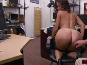 Brunette Victoria Banxxx sucks pawnguys cock for money