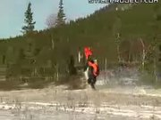 800 Feet Wheelie On Snowmobile