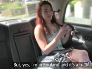 Dutch amateur flashing in British fake taxi