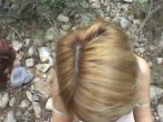 Pulled euro blonde amateur outdoor fuck