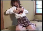 Japanese mom masturbates