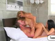 Precious babes Crystal Rae and Alexis Fawx got cock