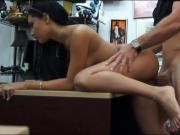 Perky tits babe banged by pawn keeper at the pawnshop