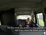 Booby amateur passenger gets banged by fraud driver