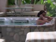 Jacuzzi teens first cock