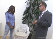 Shameless Ebony Bitch Nailed By Eager Schlong