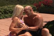 Califorina Gal Bangs Pool Man's Cock