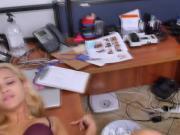 Delicious blonde babe Uma Jolie slammed hard on a porn casting