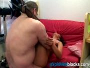 A small tit amateur European ebony slut gets fucked by horny white man