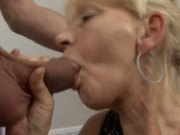 Slutty Granny Takes Hung Stud