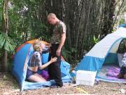 Dad helps playfellow's teen Backwoods Bartering
