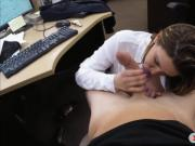 Busty brunette woman railed deep by pervert pawn guy