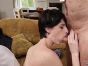 Kinky old granny and old man fuck young girl xxx Frankie heads
