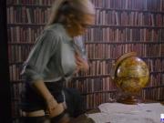 Busty MILF Rebecca Moore sucking off her boss huge cock