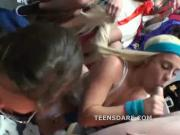 Wild teen girls fuck for social status
