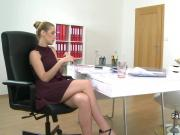 Huge lesbo toy on casting interview