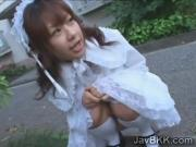 Petite Japanese beauty gets thick facial of sperm