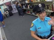 Sexy Hot Police Officer In The Pawnshop Willing To Strike A Deal