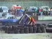 Crewman Gets Knocked Back Far From Race Car Crash