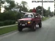 Epic Fail Stunt On Truck