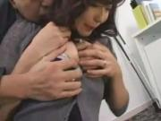 Innocent-Faced Asian Has Her Cooter Massaged Licked In Office Room