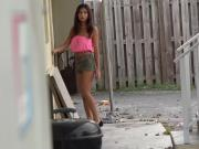 Young latina tenant fucks her landlord or she gets evicted