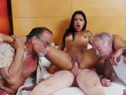 Old man fucks two girls xxx Staycation with a Latin Hottie