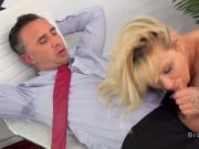Dude anal bangs huge tits boss in office