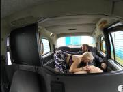 Busty blonde female driver fucked by pervert passenger