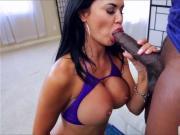 Pretty Jasmine Jae pierced pussy fucks a big black cock