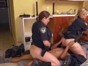 Hot black milf Black Male squatting in home gets our milf officers