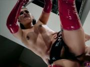 Awesome milf in latex and high heels big dick ass fuck