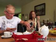 Redhead cougar masturbation Minnie Manga munches breakfast with John