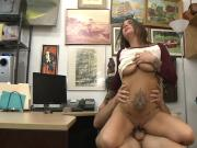 Sexy amateur tattooed woman gets railed at the pawnshop