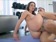 Super hot bride to be ass fucked by her personal trainer