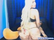 Hunk Dude Bonks This Blonde Tgirl's Ass