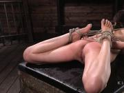 Sub cunt toyed in rope suspension