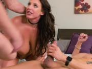 Double penetration for huge boobs brunette