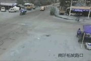 bicycle rider gets head on smashed by a truck and run over