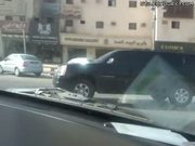 Chevrolet Suburban Drifting On Streets Of Riyadh