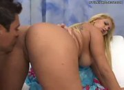 AMAZING ANAL - perfect booty blonde with big tits
