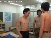 Asian twink cock stroked