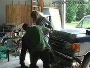 Blonde Chick Tied Up To A Fucking Machine As An Ornament On Front Of Truck