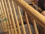 Busty latina fucked on the stairs