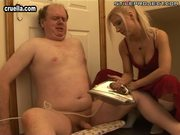 his dominatrix likes ironing his cock