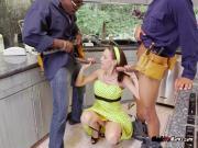 Cougar Mckenzie Lee Fucks And Blows Black Plumbers