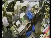 Lucky Escape For Woman & Kids As Car Crashes Into Store