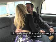 Beautiful Rebecca More soaking wet pussy gets fucked in the cab
